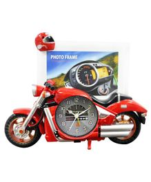 EZ Life Swift Motorbike Photoframe With Desk Clock - Red