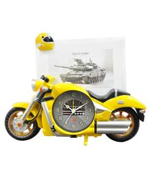 EZ Life Swift Motorbike Photoframe With Desk Clock - Yellow