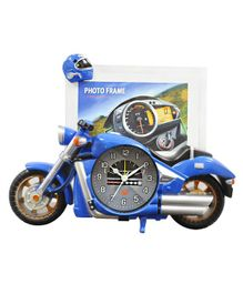 EZ Life Swift Motorbike Photoframe With Desk Clock - Blue