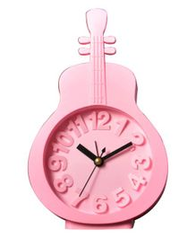 EZ Life Guitar Shape Desk Alarm Clock - Pink