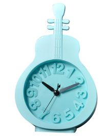 EZ Life Guitar Shape Desk Alarm Clock - Blue