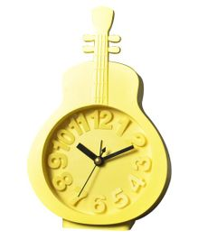 EZ Life Guitar Shape Desk Alarm Clock - Yellow