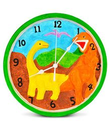 EZ Life DIY Dinosaur Paint Your Clock Kit