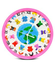 EZ Life DIY Happy Kids Paint Your Clock Kit