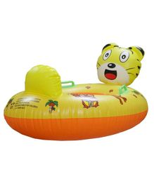 EZ Life Inflatable Tiger Swimming Ring Float - Yellow