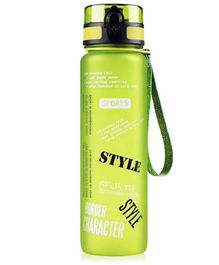 EZ Life Graffiti Water Bottle Green - 1000 ml