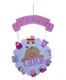 EZ Life It's A Girl Wall Hanging - Pink