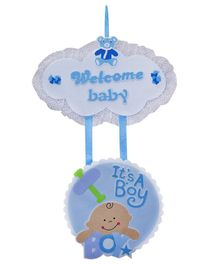 EZ Life Welcome Baby Boy Wall Hanging - Blue