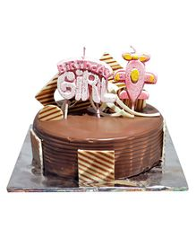 EZ Life Girl & Aeroplane Shape Happy Birthday Candles - Pink