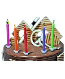 EZ Life Colorful Flame Candles - 6 Pieces
