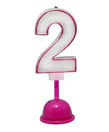 EZ Life LED Number Candle With Light And Sound - Number 2