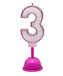 EZ Life LED Number Candle With Light And Sound - Number 3