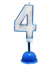 EZ Life LED Number Candle With Light And Sound - Number 4