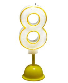 EZ Life LED Number Candle With Light And Sound - Number 8