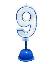 EZ Life LED Number Candle With Light And Sound - Number 9