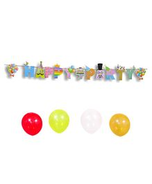 EZ Life Party Banner & Balloons Multicolour - Pack of 6