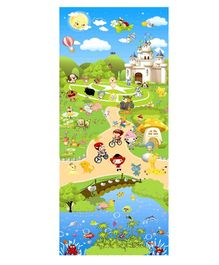 EZ Life Park & Cycle Theme Play Mat - Blue