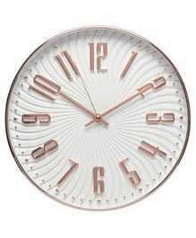 EZ Life Swirl Wall Clock - Rose Gold