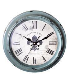 EZ Life Antique Roman Analog Wall Clock - Sky Blue