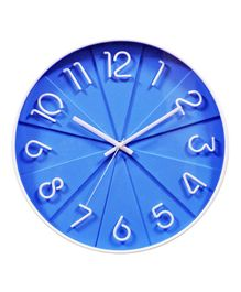 EZ Life Analog Wall Clock - Blue