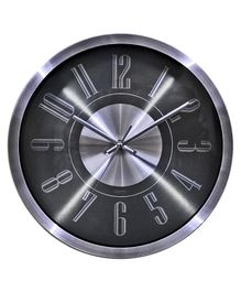 EZ Life Round Shaped Wall Clock - Black