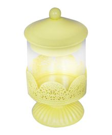 EZ Life Multipurpose Metal Jar With Stand -Yellow