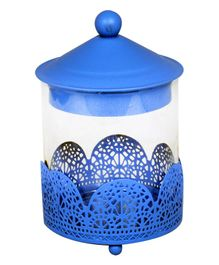 EZ Life Multipurpose Metal Jar With Stand - Blue