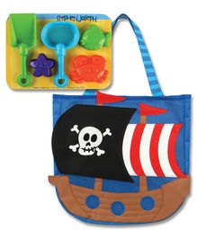 Stephen Joseph Beach Play Set With Tote Pirate Print - Multicolour