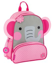 Stephen Joseph Elephant Backpack Pink Grey - Height 12.75 inches