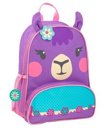 Stephen Joseph Llama Backpack Purple Blue - Height 12.75 inches