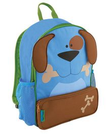 Stephen Joseph Doggy Backpack Blue Brown - Height 12.75 inches