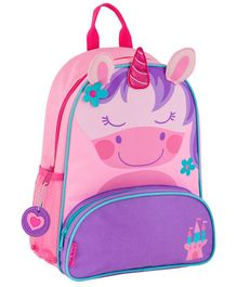 Stephen Joseph Unicorn Backpack Pink Purple - Height 12.75 inches
