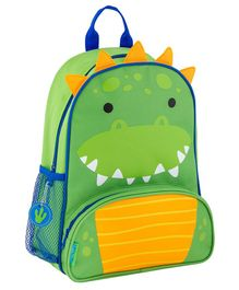 Stephen Joseph Dino Backpack Yellow Green - Height 12.75 inches