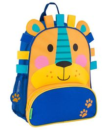 Stephen Joseph Lion Backpack Yellow Blue - Height 12.75 inches