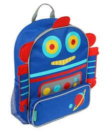 Stephen Joseph Robot Backpack Blue Red - Height 12.75 inches