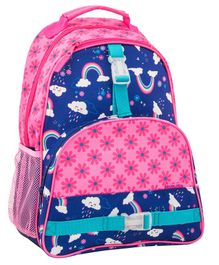 Stephen Joseph Backpack Rainbow Print Blue Pink - Height 12.75 inches