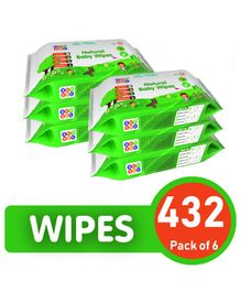 BeyBee Natural Baby Wipes - 432 Pieces