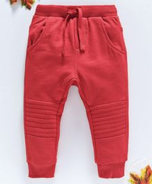 OVS Full Length Solid Lounge Pants - Red