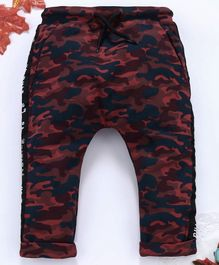 OVS Camouflage Print Full Length Pants - Brown & Blue