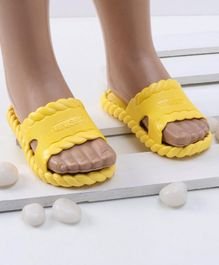 Mini Sed Solid Flip Flops - Yellow