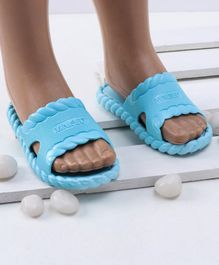 Mini Sed Solid Flip Flops - Light Blue