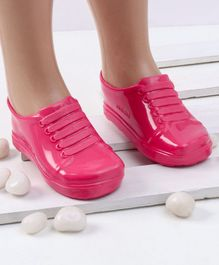 Mini Sed Glitter Finish Rain Shoes - Pink
