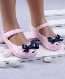 Mini Sed Bow Decorated Rain Sandals - Light Pink