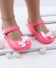 Mini Sed Bow Decorated Rain Sandals - Pink