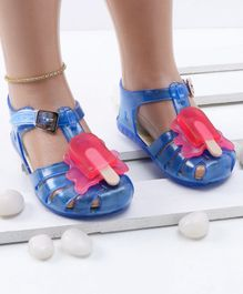 Mini Sed Ice Pop Decorated Rain Sandals - Blue