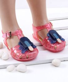 Mini Sed Ice Pop Decorated Rain Sandals - Pink