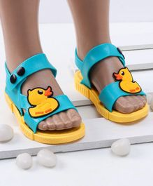 Mini Sed Duck Decorated Rain Sandals - Yellow