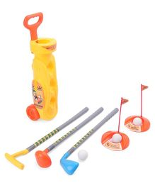 Minion Golf Set With Trolley Net - Multicolour