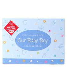 Archies Baby Boy Record Book with Socks - Blue