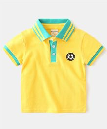 Pre Order - Awabox Ball Embroidered Half Sleeves T-Shirt - Yellow